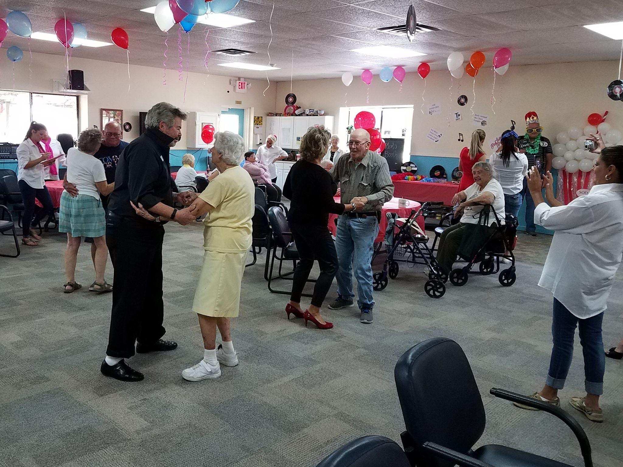 dancing at care